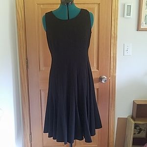 Calvin Klein Pleated Black Dress